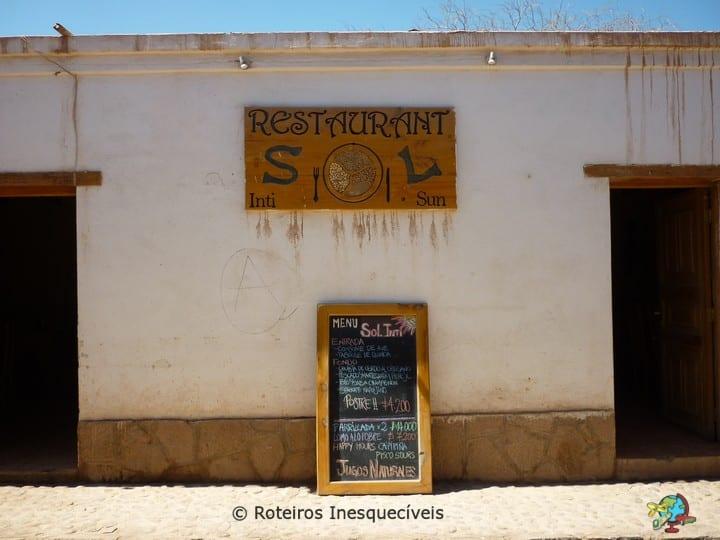 Restaurante Sol - San Pedro de Atacama - Deserto do Atacama