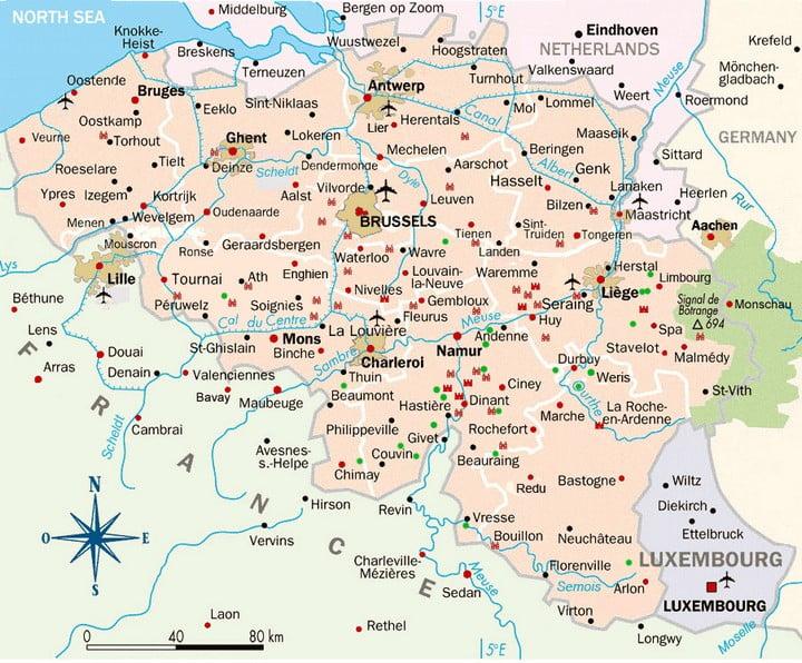 Mapa - Belgica